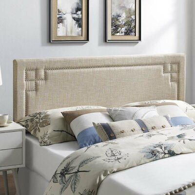 Kerley Fabric Upholstered Panel Headboard Size: Full