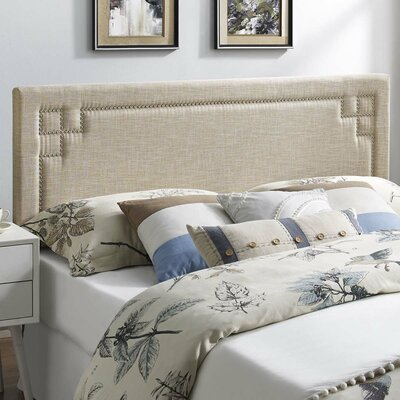 Kerley Fabric Upholstered Panel Headboard Size: King