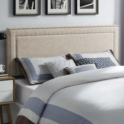 Fregoso Fabric Upholstered Panel Headboard Size: Queen