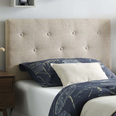 Ziemer Fabric Upholstered Panel Headboard Size: Twin