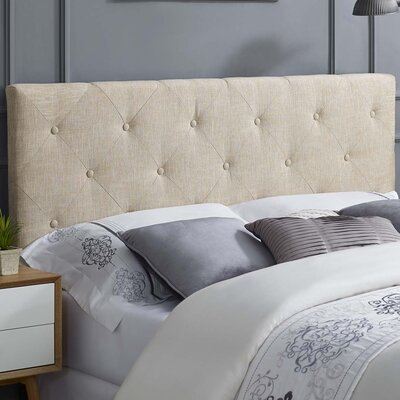 Ziemer Fabric Upholstered Panel Headboard Size: Queen