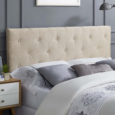 Ziemer Fabric Upholstered Panel Headboard Size: Full