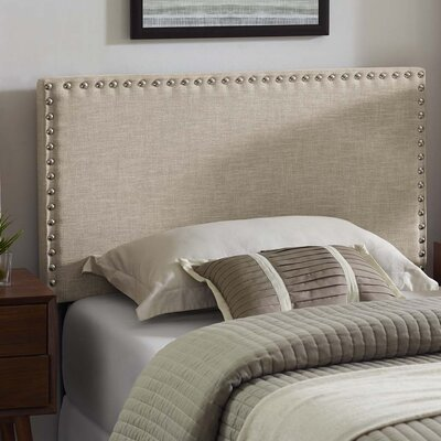 Cothern Fabric Upholstered Panel Headboard Size: Twin