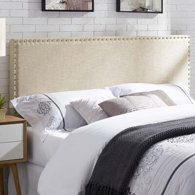 Cothern Fabric Upholstered Panel Headboard Size: Queen
