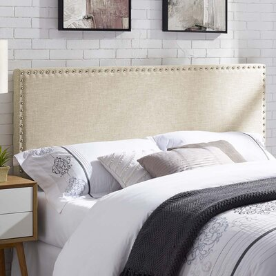 Cothern Fabric Upholstered Panel Headboard Size: Full