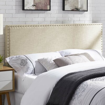 Cothern Fabric Upholstered Panel Headboard Size: King