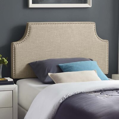 Cothran Fabric Upholstered Panel Headboard Size: Twin