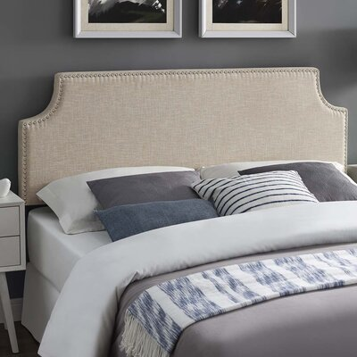 Cothran Fabric Upholstered Panel Headboard Size: Full