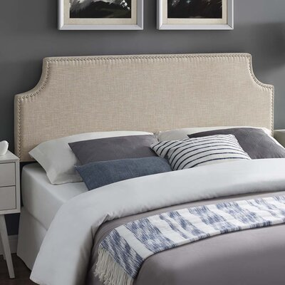 Cothran Fabric Upholstered Panel Headboard Size: King