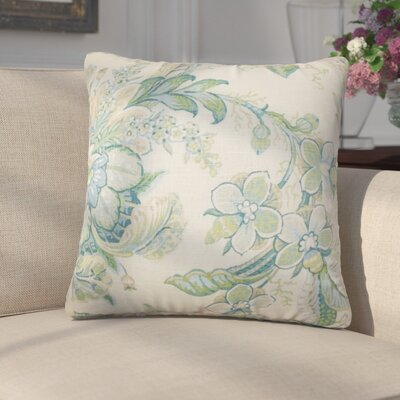 Gofried Floral Throw Pillow Color: Blue