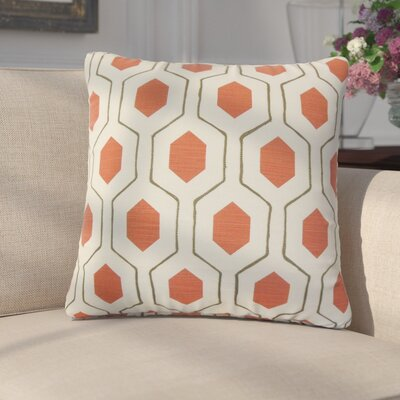 Edmondo Geometric Cotton Throw Pillow Color: Red
