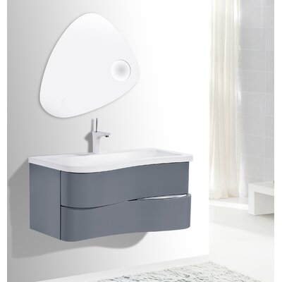 Grisby Iron 28 Wall-Mounted Single Bathroom Vanity Set