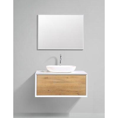 Grissett 35 Wall-Mounted Single Bathroom Vanity Set