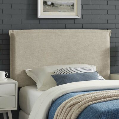 Zimmer Fabric Upholstered Panel Headboard Size: Queen