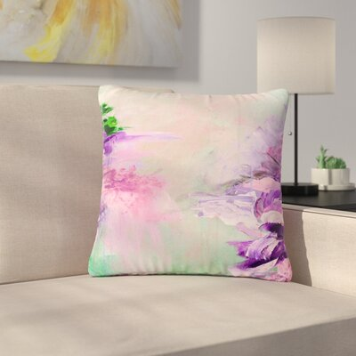 Ebi Emporium Winter Dreamland Outdoor Throw Pillow Size: 16 H x 16 W x 5 D, Color: Pink/Purple