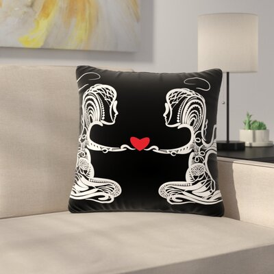 Maria Bazarova Angel Abstract Outdoor Throw Pillow Size: 16 H x 16 W x 5 D