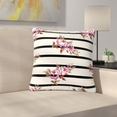 NL Designs Floral Stripes Outdoor Throw Pillow Size: 16 H x 16 W x 5 D