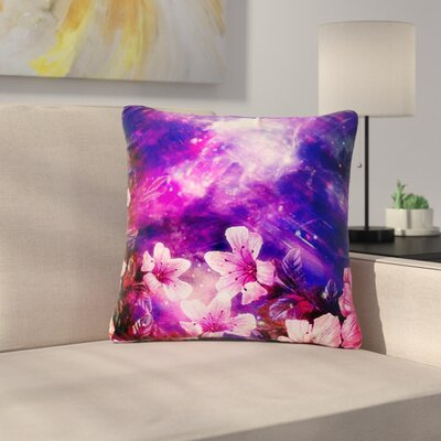 Shirlei Patricia Muniz Space Flowers Outdoor Throw Pillow Size: 18 H x 18 W x 5 D