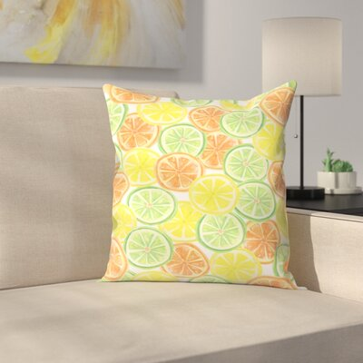 Jetty Printables Citrus Pattern Throw Pillow Size: 16 x 16