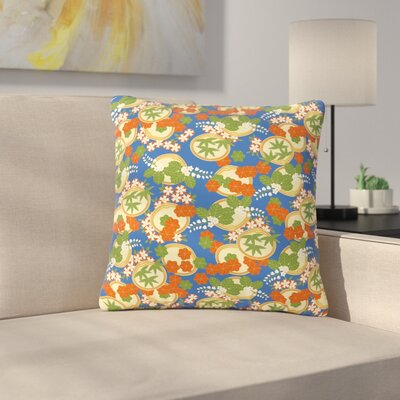 Setsu Egawa Clam and Paulownia Outdoor Throw Pillow Size: 16 H x 16 W x 5 D