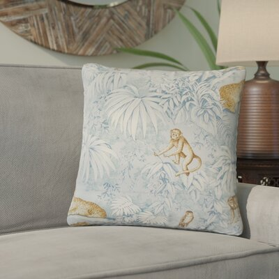 Xanthe Graphic Cotton Throw Pillow Color: Blue