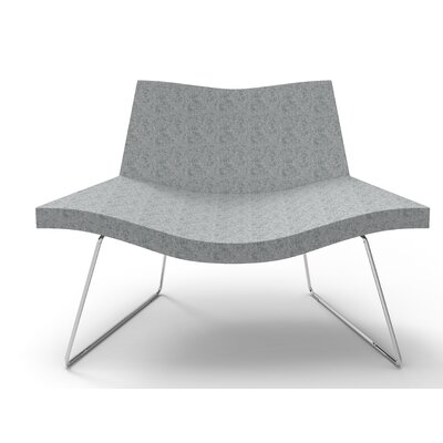 Smile Lounge Chair Finish: Medium Gray
