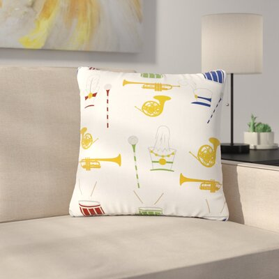 Stephanie Vaeth Marching Band Illustration Outdoor Throw Pillow Size: 16 H x 16 W x 5 D