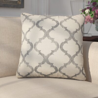 Griselde Geometric Cotton Throw Pillow Color: Gray