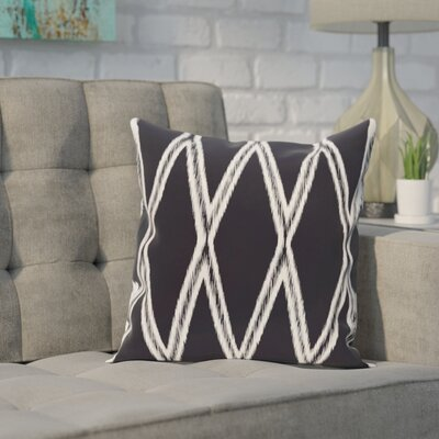 Broadhurst Geometric Print Throw Pillow Size: 18 H x 18 W x 1 D, Color: Navy Blue