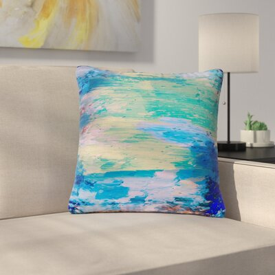 Nina May Mineral Surf Abstract Outdoor Throw Pillow Size: 18 H x 18 W x 5 D