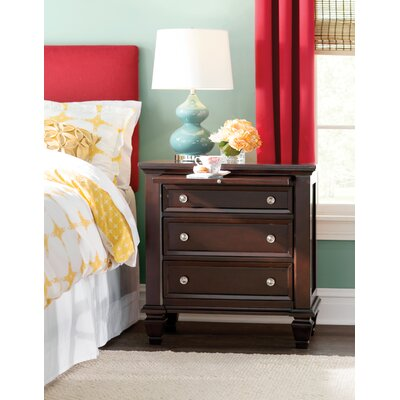 Ellis 3 Drawer Bachelors Chest Color: Cappuccino