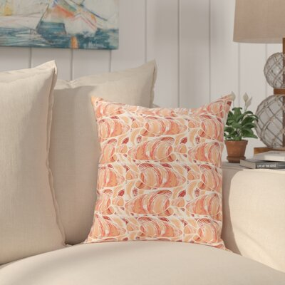Cedarville Fishwich Coastal Throw Pillow Size: 16 H x 16 W, Color: Coral