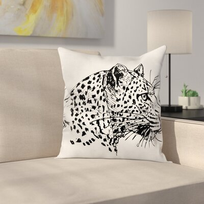 Modern Animal Graphic Print Pillow Cover Size: 24 x 24