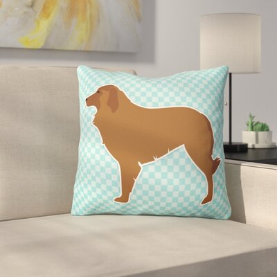 Portuguese Shepherd Indoor/Outdoor Throw Pillow Size: 14 H x 14 W x 3 D, Color: Blue