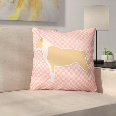 Staffordshire Bull Terrier Indoor/Outdoor Throw Pillow Size: 14 H x 14 W x 3 D, Color: Green