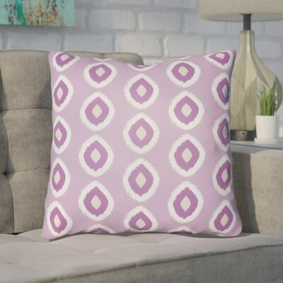 Malachi Circles Indoor/Outdoor Pillow Cover Size: 18 H x 18 W x 3.5 D, Color: Light Purple
