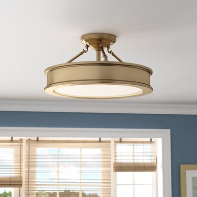 Bowers 3-Light Semi-Flush Mount Color: Liberty Gold