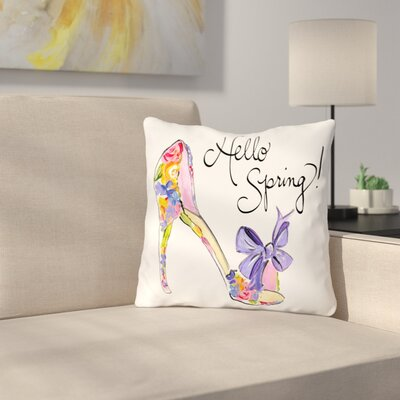 Bridge Street Hello Spring Heels Throw Pillow Size: 18 H x 18 W x 3 D