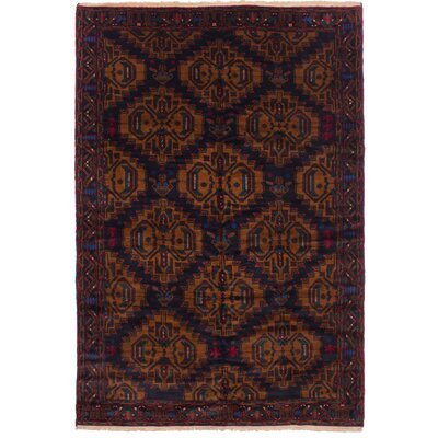One-of-a-Kind Finest Mouri Hand-Woven Wool Dark Navy Indoor Area Rug
