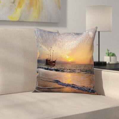 Seaside Pillow Cover Size: 18 x 18