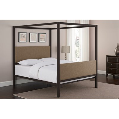 Maney Queen Upholstered Canopy Bed Color: Gray
