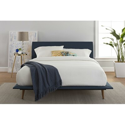 Claborn Queen Upholstered Platform Bed Color: Blue
