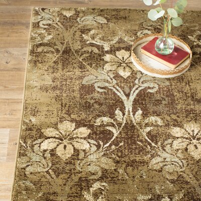 Giroflee Brown Area Rug Rug Size: Rectangle 33 x 411
