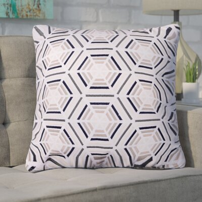 Matheus Embroidered Cotton Throw Pillow Color: Beige
