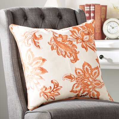 Flavien Embroidered French Country Throw Pillow Color: Spice