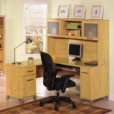 Kittle Somerset L Shaped Computer Desk Hutch Image 542