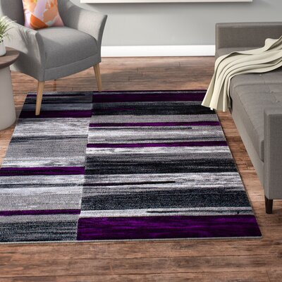 Ingram High-Quality Purple Area Rug Rug Size: 5 x 611