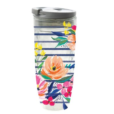 Fairburn Skinny Floral Party 16 oz. Acrylic Travel Tumbler 456E82414D6D41E1B43DF8FF9DE09D98