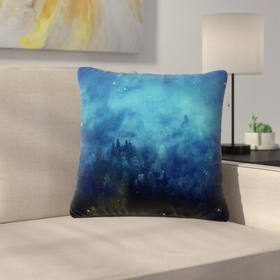 888 Design Night Forest Outdoor Throw Pillow Size: 18 H x 18 W x 5 D