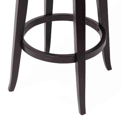 Caskey 29 Swivel Bar Stool Frame Color: Black